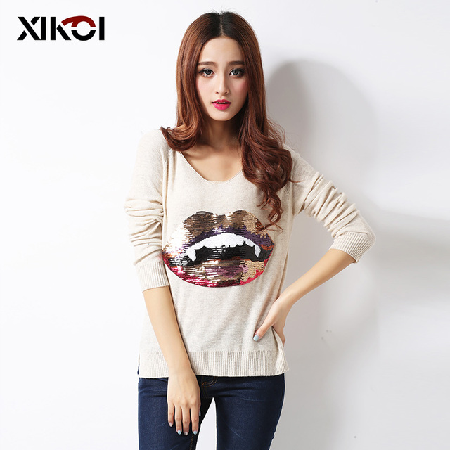 XIKOI New High Quality Women's Sweaters Fashion Turtleneck Thick Pullovers Computer Knitted Women Sweater 3081