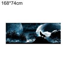 Howling Wolf Sky Moon Car SUV Rear Windshield Anti-Sun Decals Sticker  Decor цена и фото