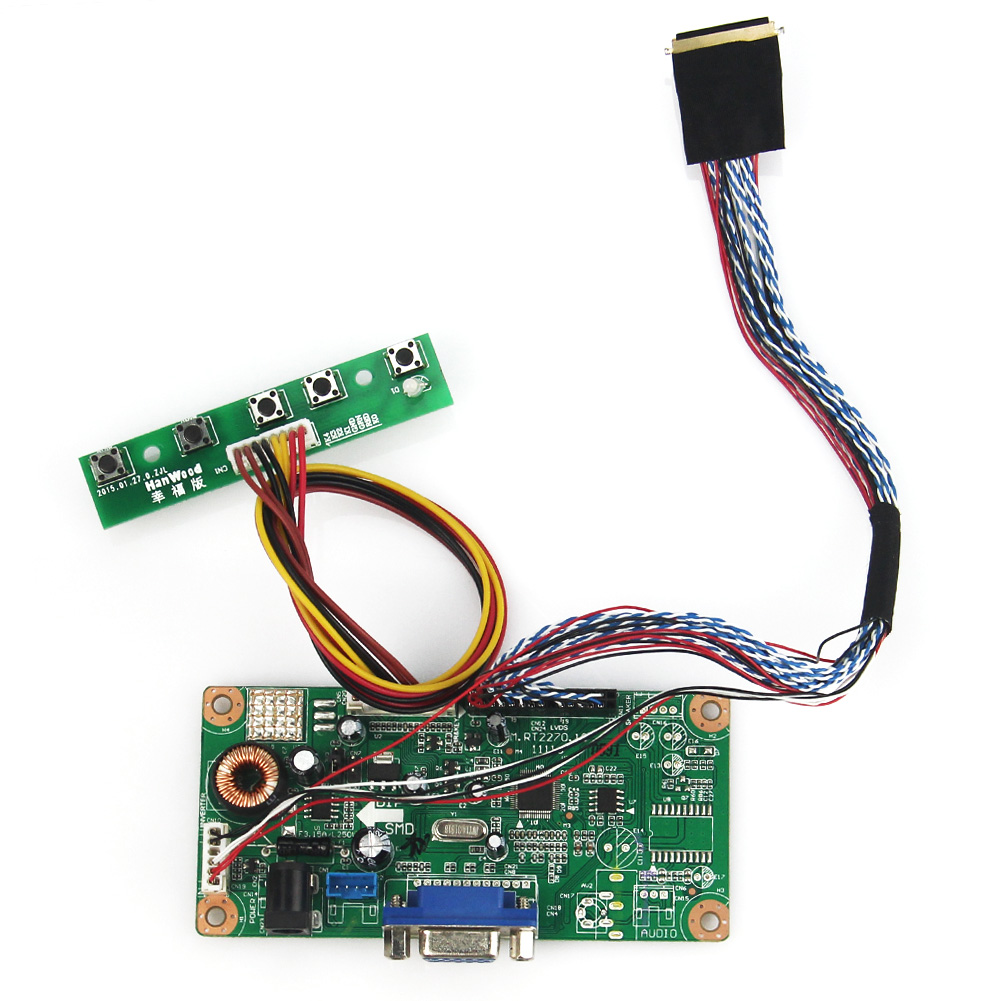 For LP173WD1(TL)(A2) N173O6-L02 M.RT2270 LCD/LED Controller Driver Board(VGA) LVDS Monitor Reuse Laptop 1600x900 for lp156wh3 tl a2 vga dvi m rt2261 m rt2281 lcd led controller driver board lvds monitor reuse laptop 1366x768