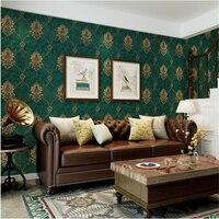 beibehang Vintage European 3D pressure Damascus wallpaper Non woven bedroom living room dining room wallpaper papel de parede