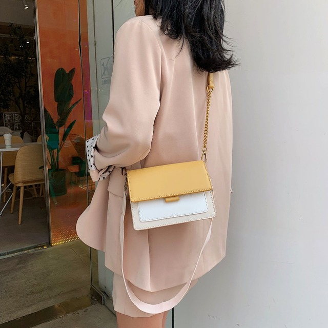 Mini Leather Crossbody Bags For Women 2020 Green Chain Shoulder Messenger Bag Lady Travel Purses and Handbags  Cross Body Bag 3