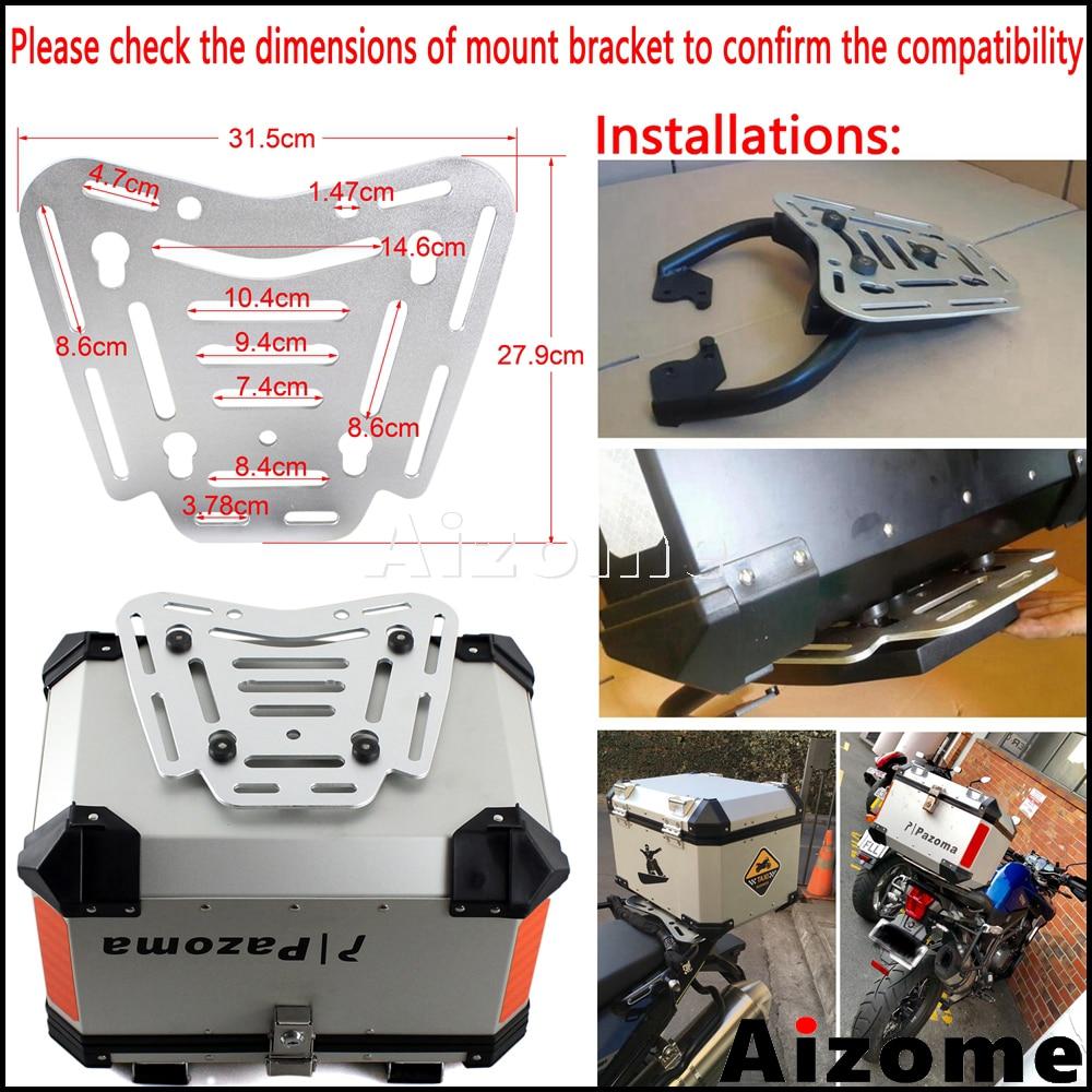 Cubierta superior Universal de la motocicleta de aluminio 45L caja de la cola de la carga de la motocicleta