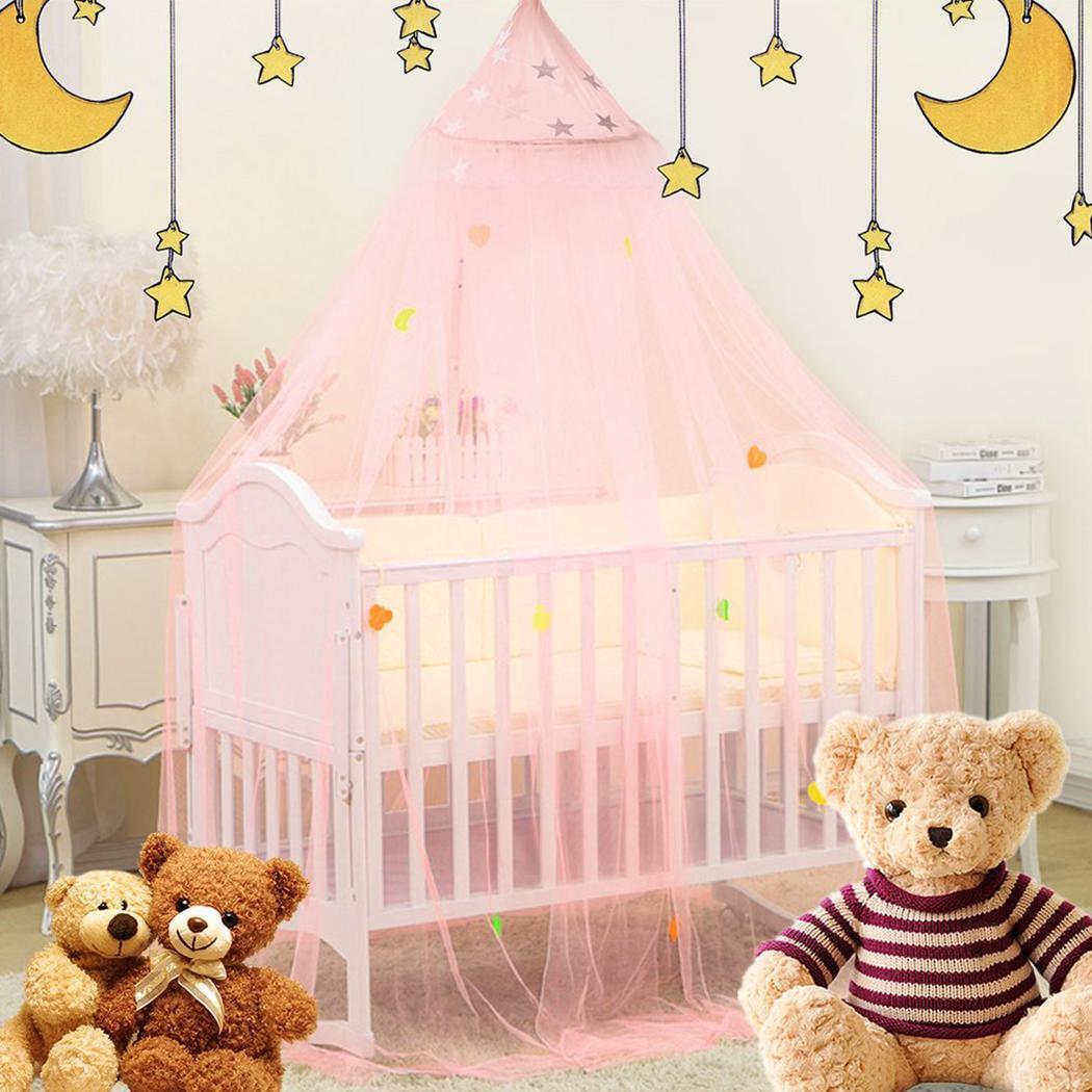 Bébé enfants dôme lit moustiquaire auvent trois portes moustiquaire rose suspendu lit rideau tente