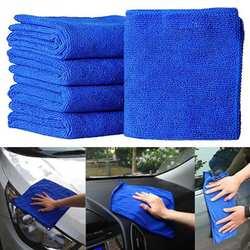 5 шт./1 шт.. микрофибра для чистки авто мягкая ткань для мытья ткани полотенце тряпка 25*25 см автомобиль для дома чистящая ткань полотенца из