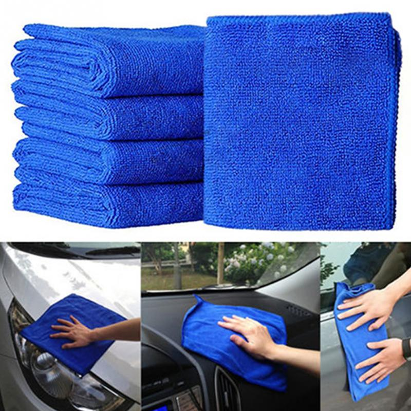 5pcs/1Pcs Microfibre Cleaning Auto Soft Cloth Washing Cloth Towel Duster 25*25cm Car Home Cleaning Micro Fiber Towels