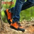 ZHJLUT caliente hombres Escalada al aire libre botas de Trekking impermeables zapatos de senderismo Transpirable hombres de las botas de Invierno Botas de Cuero 509