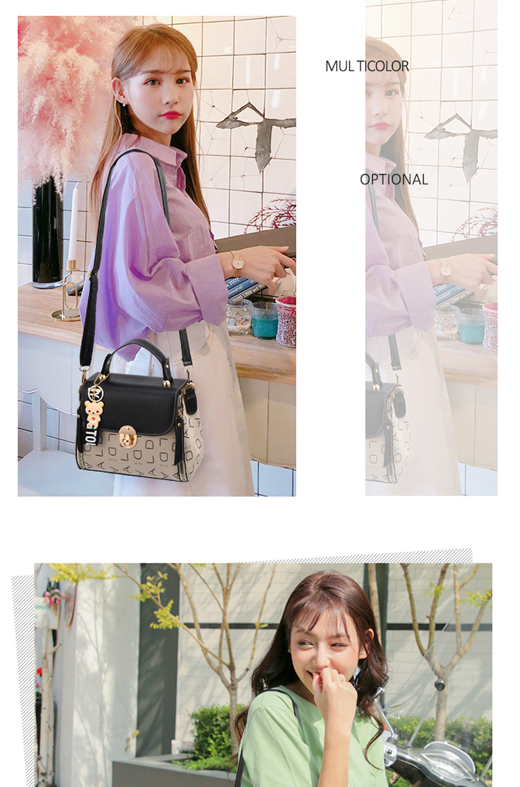 Popular Woman Handbags Fashion Leather Messenger Bag Trendy new one-shoulder diagonal small square bag Bolsa Feminina louis gg 51