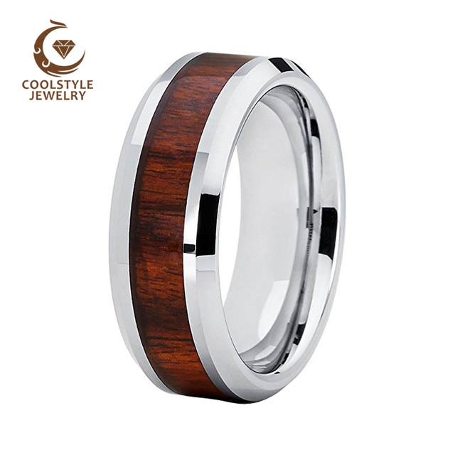 i ve inside stainless and titanium from rings rosewood made my steel shop ironwood ring