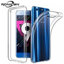 "RONICAN עבור Huawei honor 9 מקרה סיליקון כיסוי honor 9 Slim שקוף טלפון הגנה רך מעטפת עבור Huawei honor 9 5.15"""