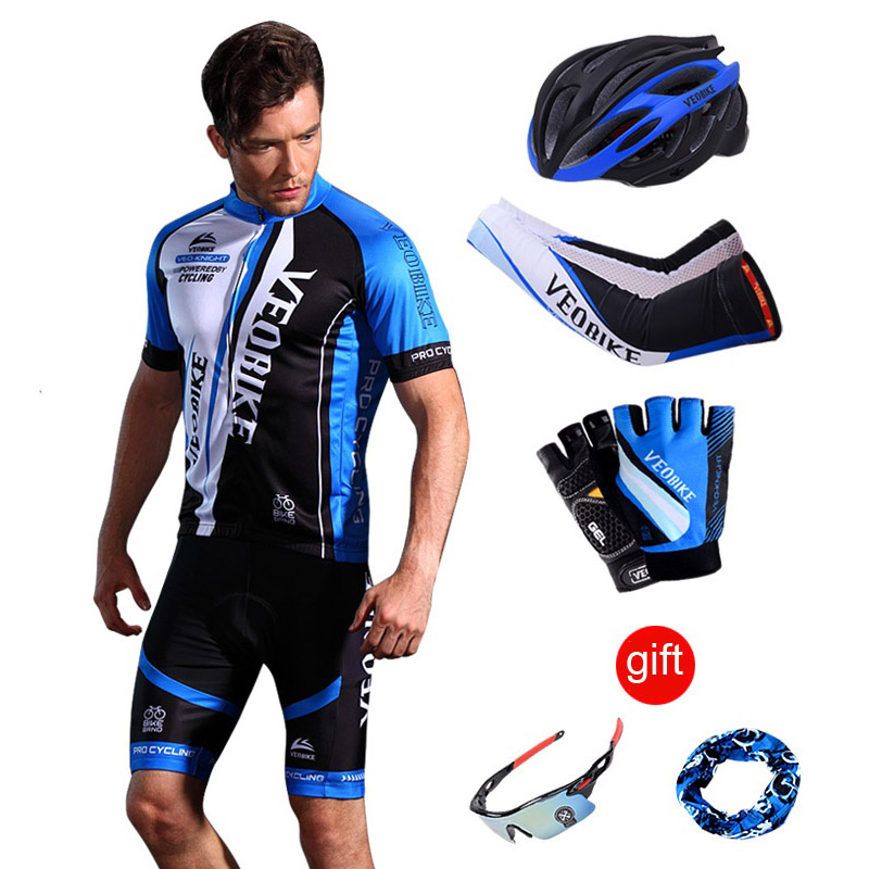 Pro Cycling Jersey Team racing Bike Sportswear Short Sleeve Bicycle Clothing MTB Wear Cycle Clothes men cycling sets summer 2018 купить недорого в Москве