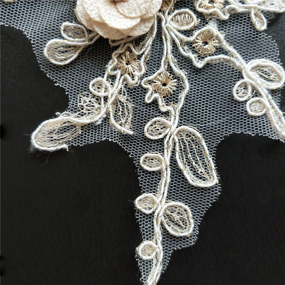 High quality Embroidered Lace Neckline Neck Collar Trim Bridal Wedding  dress Sewing Applique Guipure Floral Lace Fabrics DIY-in Lace from Home    Garden on ... fb4e1faee179