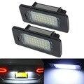 2 unids Error 18 LED Fuente De La Lámpara Luz de Placa de Licencia de Coches Auto bombillas para audi a4 a5 q5 s5 tt volkswagen vw passat r36 5d