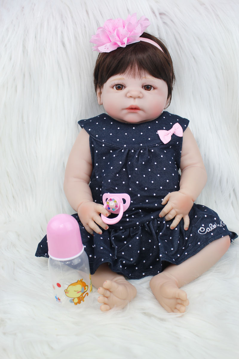 55cm Full Silicone Reborn Baby Doll Toys Lovely 22inch Newborn Princess Girl Toddler Babies Dolls Xmas Present Child Bathe Toy 55cm full silicone body reborn baby doll toys like real 22inch newborn boy babies toddler dolls birthday present girls bathe toy