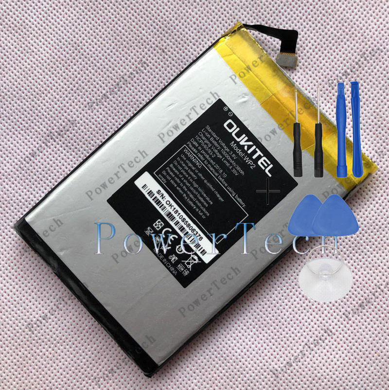 100% Original Oukitel WP2 Battery 10000 MAh Replacement 6.0inch Oukitel WP2 Mobile Phone Battery