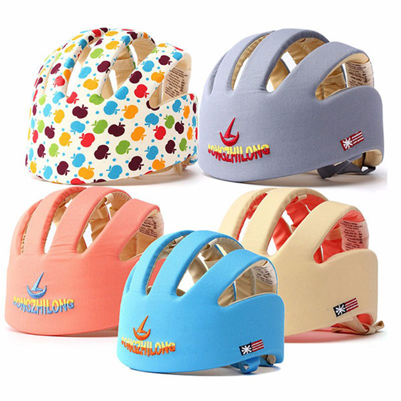 New Baby Toddler Adjustable Safety Headguard Helmet Protective Hat Gear Cap baby safety helmet toddler headguard hat protective infants soft cap adjustable for crawl walking running outdoor playing