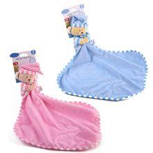 Baby Hand Towel Pacifier Appease Soothe Cute Cartoon Bear Soft Plush Nursing Stuffed Play Doll Infant Sleeping Care