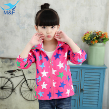 M&F High Quality Baby Girl Jacket Coat Autumn Spring Cotton Infant Outerwear Cute Bowknot Toddler Kids Clothes Children Clothing