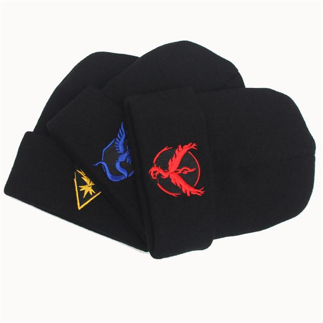 2016 modelos de explosión Caliente Pokemon Asistente Skullies Sombrero de Otoño e Invierno de Lana de Punto Caliente Calentadores Del Oído Tapa de Cobertura M-147
