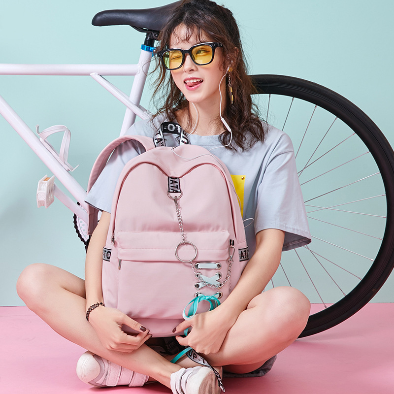 Image 5 - Fashion Girl Schoolbag Female Students Laptop Backpack Kids School Bags For Teenage Girls Women Gray Backpacks Mochila Escolar-in School Bags from Luggage & Bags