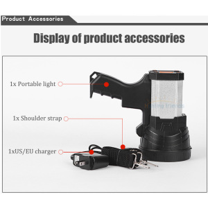 Image 4 - Superbright Tactical Handheld Spotlight Gun Flashlight Rechargeable 18650 Battery Included 3 mode Light USB Power Charger