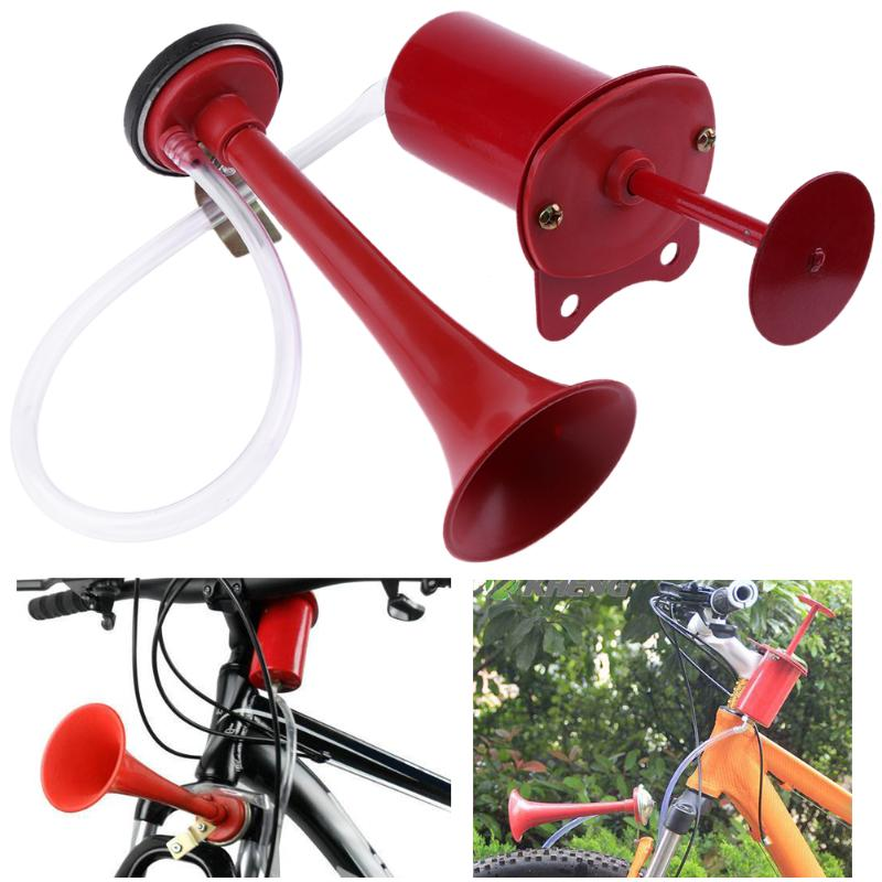 1Pcs MTB Bike Bicycle Alarm Bell Cycling Handlebar Ultra Loud Sound Air Horn Safety Bicycle Bell Horn Strong Loud Bike Accessory