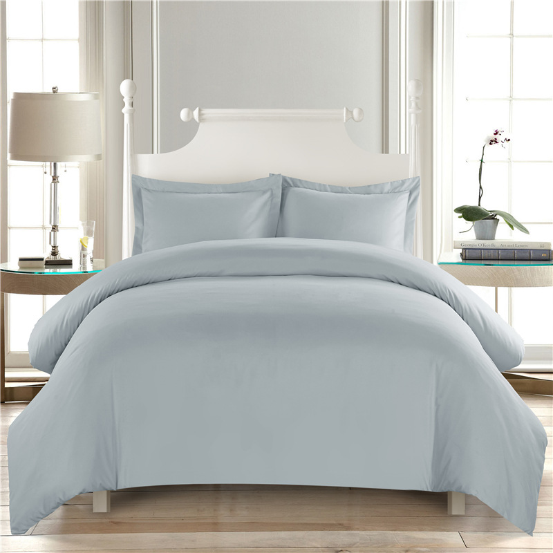 Hotel Collection King Size Quilts: Pure Color White Comforter Bedding Sets Hotel Duvet Cover