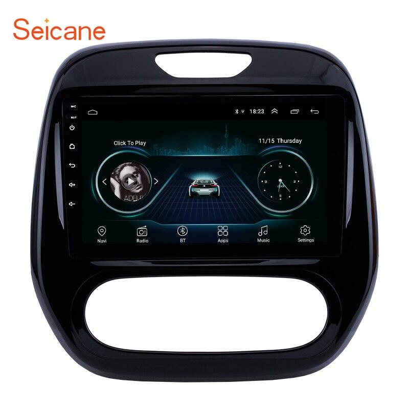 Seicane Android 8.1 9 pouces pour Renault Captur CLIO Samsung QM3 Auto A/C 2011-2013 2014 2015 2016 voiture GPS Navi tête unité joueur