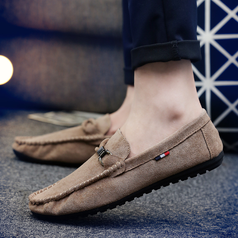 Spring and autumn peas shoes men 39 s flat shoes casual lazy shoes wild men 39 s Korean version of the trend of a pedal shoes in Men 39 s Casual Shoes from Shoes
