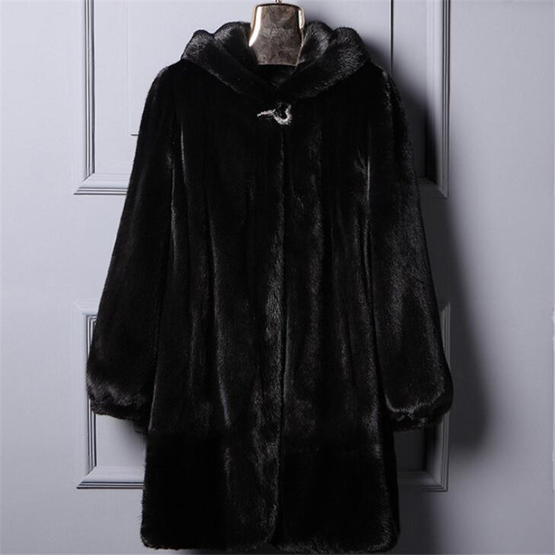 Kadın Giyim'ten Yapay Kürk'de 2019 Yeni Rus Rahat Artı Boyutu Moda Taklit Kalın Faux Kürk Ceket Kadın Kış Kalın Sıcak Kapüşonlu Vizon Kürk Mantolar a3765'da  Grup 1