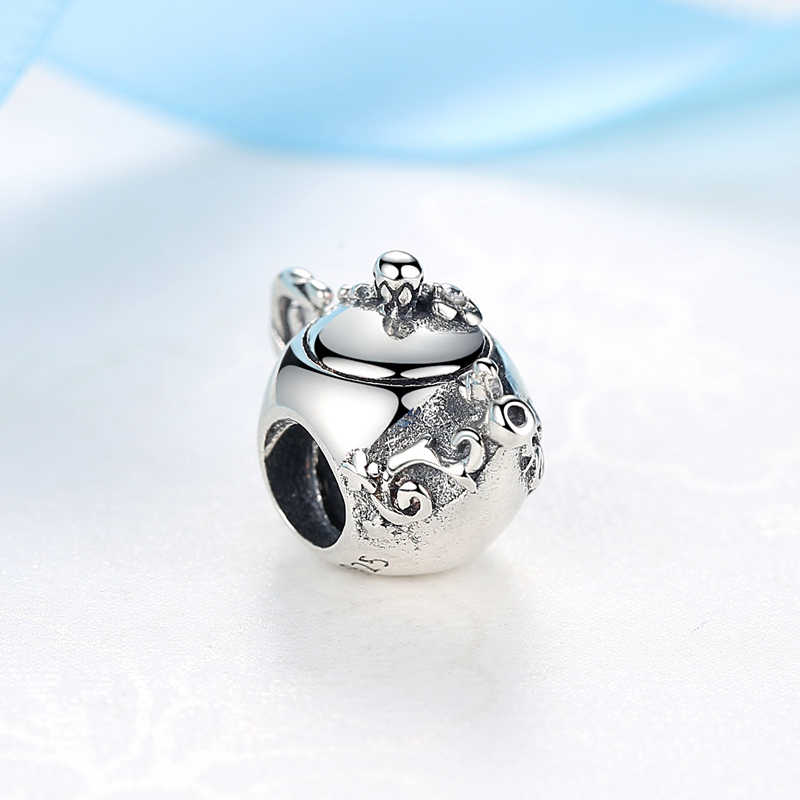 e8899c9bb ... New Original 100% 925 Sterling Silver Bead Charm Enchanted Teapot  Charms Afternoon Tea Fit Pandora ...
