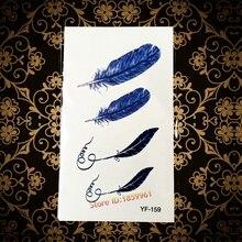 Hot Popular Body Art Men Women Arm Hand Makeup Flash Tattoo AYF-159 Feather Pen Design Waterproof Temporary Tattoo Paper Pastes