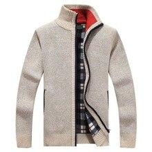 2020 新メンズセーター秋冬暖かいカシミヤウールジッパーカーディガンセーター男カジュアルニットsweatercoat男性服カーディガン