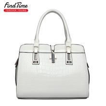 FIND TIME Ladies Shoulder Bag Woman New Style Fashion Crocodile Texture Cross Phone Bag Zipper Simple Large Capacity Handbag Hot