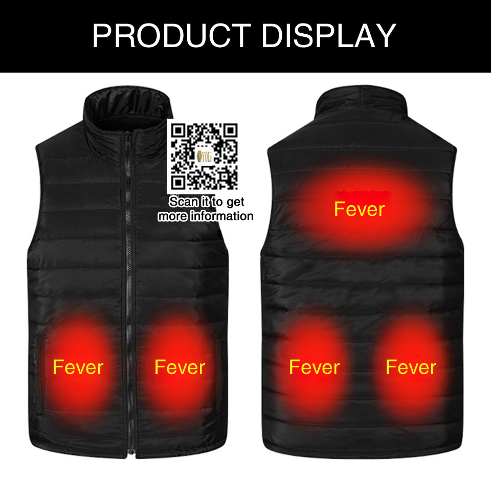 Heated Vest Winter Electric Thermal Clothing Usb Infrared Battery