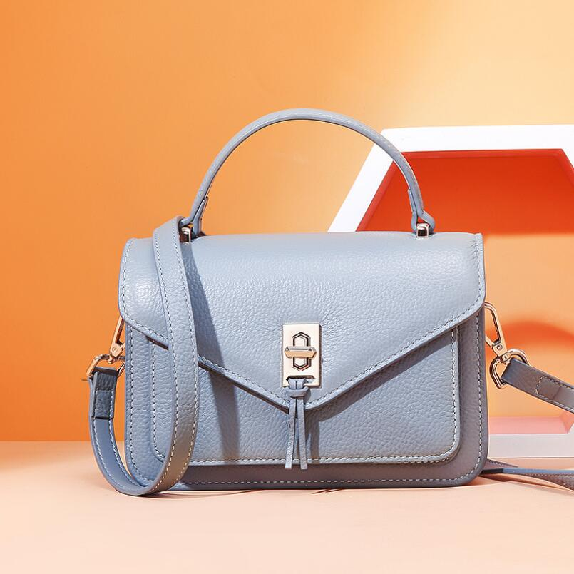 FoxTail & Lily verano Mini bolsos de lujo bolsos de las mujeres de diseñador de cuero Real bandolera de las señoras bolsos del mensajero del hombro-in Bolsos de hombro from Maletas y bolsas    1