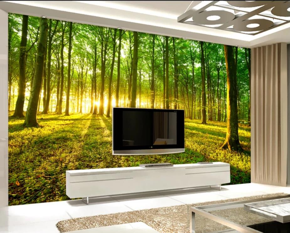Real landscape nature fantasy forest background wall painting modern living room wallpapersReal landscape nature fantasy forest background wall painting modern living room wallpapers