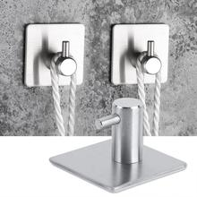4Pcs/set Multifunction Towels Holder Stainless Steel Wall Mounted Hooks for Handbag Bathroom Kitchen Accessories