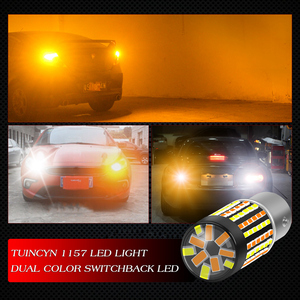 Image 5 - Katur 2pcs Dual Color 1157 BAY15D Led Bulbs For Cars Switchback Orange/White Led Turn Signal Lights With DRL Function 1200Lm