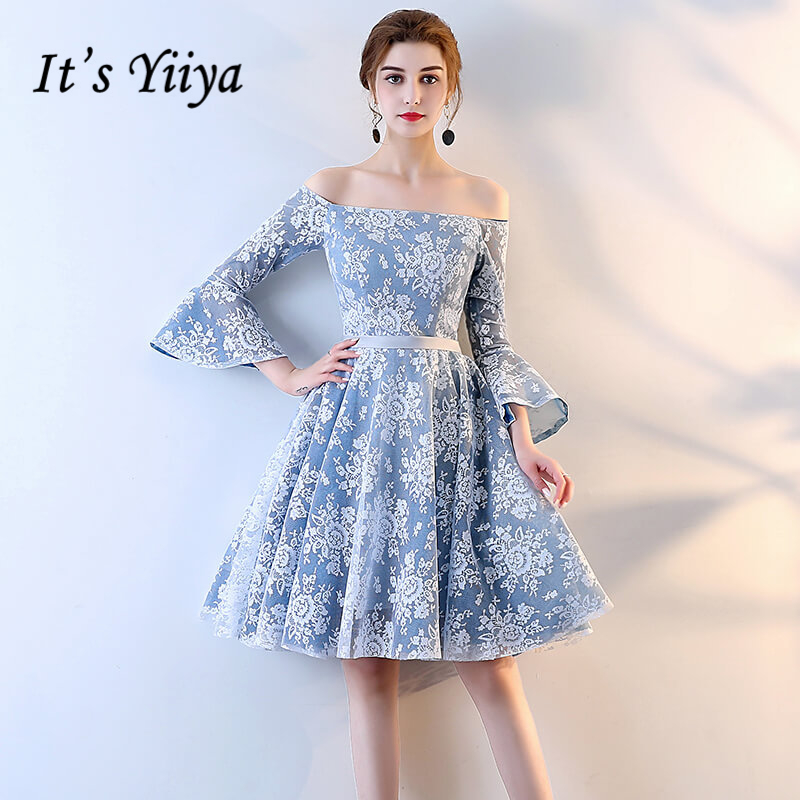 It's YiiYa 2018 Sleeveles O-Neck Fashion Designer Elegant   Cocktail   Gowns Flowers Pattern Sexy   Cocktail     Dress   LX393