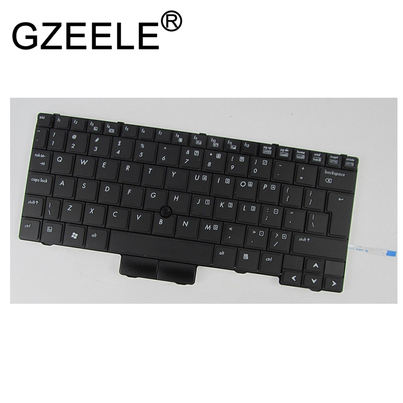 GZEELE NEW US black keyboard for HP EliteBook 2540 2540p 598790-001 V108602AS1 PK1309C2A00 English version gzeele hot selling english keyboard for hp elitebook 8440p 8440w 8440 us laptop keyboard black without point stick