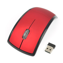 Hot Ultrathin 2.4GHz Foldable Wireless Optical Mouse Mice with Mini USB Receiver for PC Laptop Notebook Computer