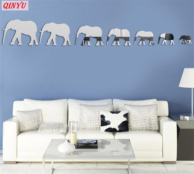 3d elephant wall stickers living room children room home decor