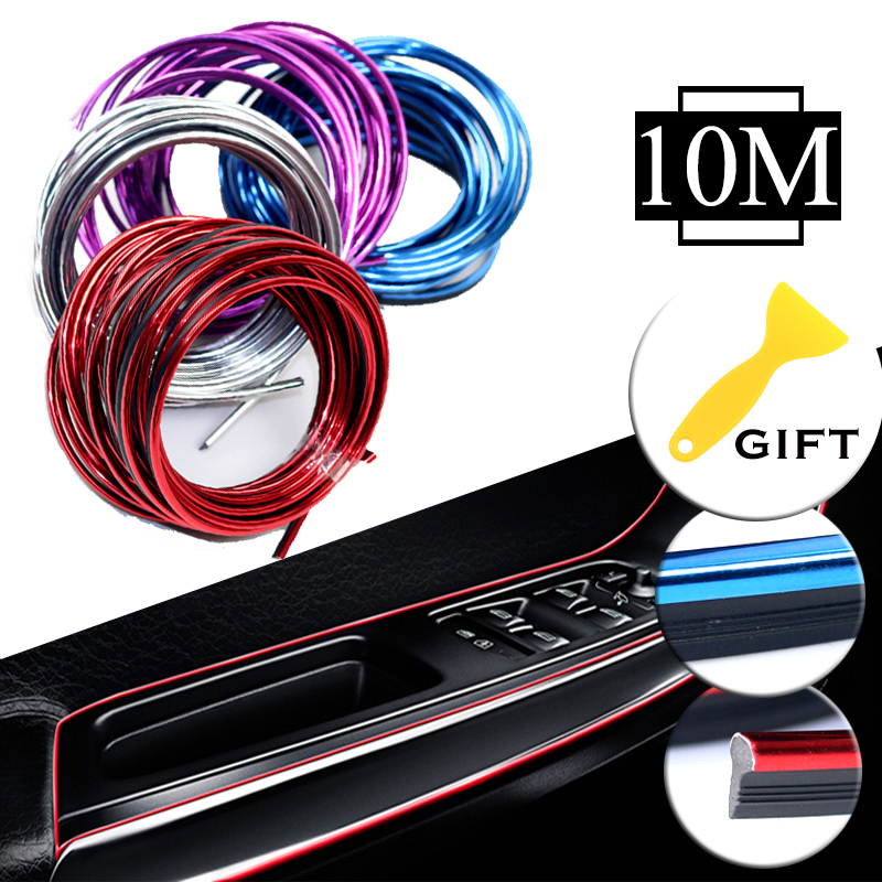 10m lot 3d auto car styling brand thread stickers decoration and decals interior decorative trims strips accessories car styling