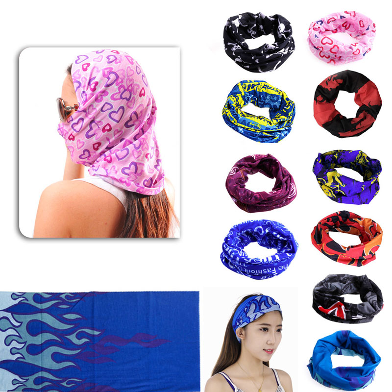 1PC Outdoor Sport Camping & Hiking Scarves Cycling Bicycle Head Scarf Magic Headband Face Mask Snood Bandana