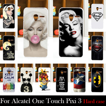 Hard Plastic Case For Alcatel One Touch Pixi 3 4.5 inch 4027X 4027D 4028A Mobile Phone Cover Bag Cellphone Housing Shell Skin