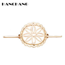HANCHANG Hair Accessories Women Headwear Hair Sticks Alloy Flower of Life Hairpins Hair Clip Female Head Jewelry Hair Bows(China)