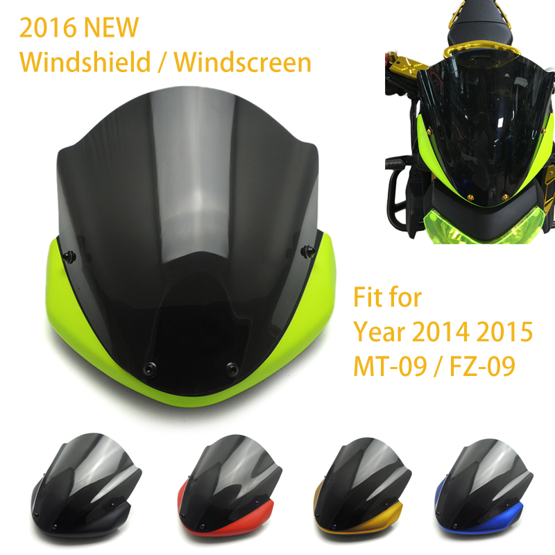 2016 new mt09 fz09 motorcycle windshield windscreen for. Black Bedroom Furniture Sets. Home Design Ideas