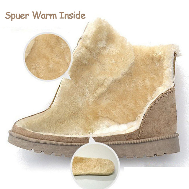 Women Boots Winter Super Warm Snow Boots Women Suede Ankle Boots For Female Winter Shoes Botas Mujer Plush Booties Shoes Woman 3