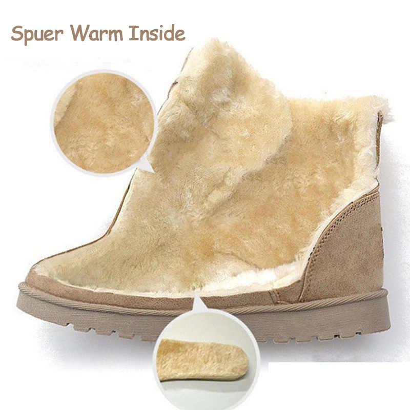Kadın Botları Kış Ayakkabı Kadın Süper Sıcak Kar Botları Kadın yarım çizmeler Kadın Kış Ayakkabı Botas Mujer Peluş Patik