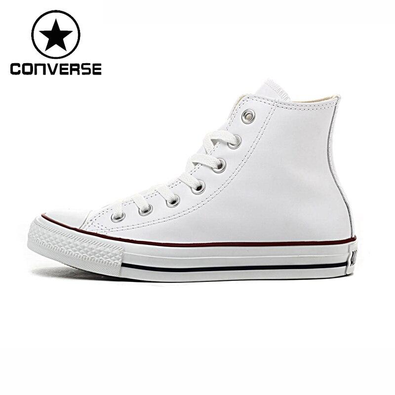 Prix pour D'origine Converse Classique Unisexe Planche À Roulettes En Cuir Chaussures High top Sneakser